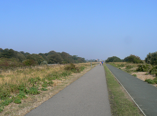 The Saxon Shore path and cycleway, Walmer