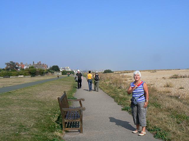 The Saxon Shore path and cycleway, Walmer