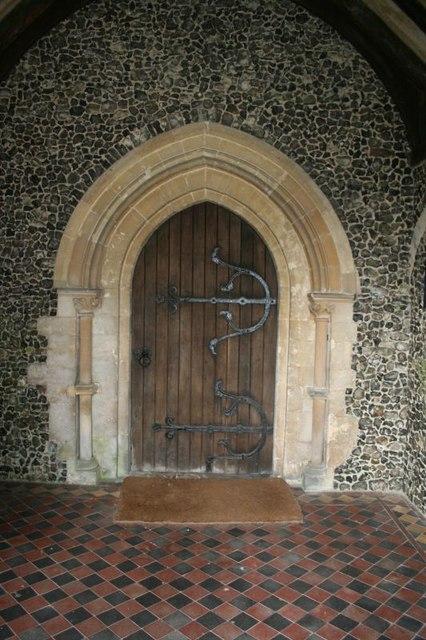 Door to the church