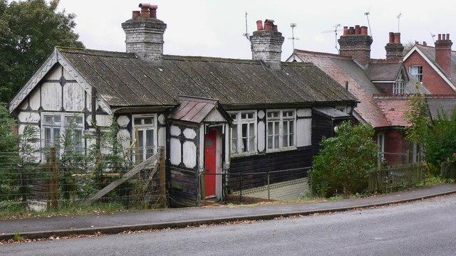 Building on Longmoor Road at Greatham