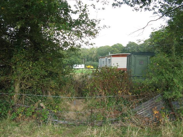 Caravan Park north of Wineham viewed from footpath to the west