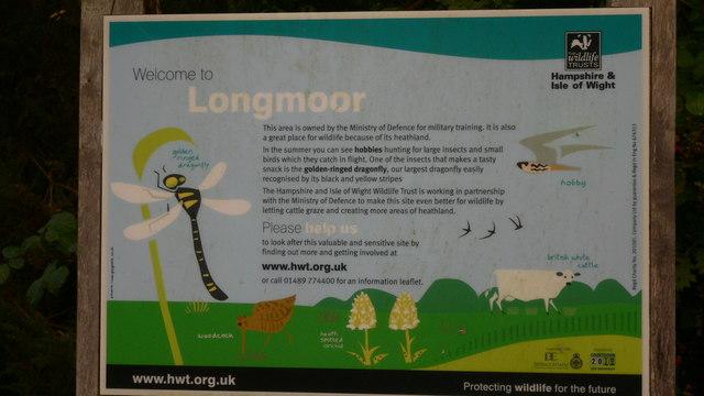 Information board at Longmoor