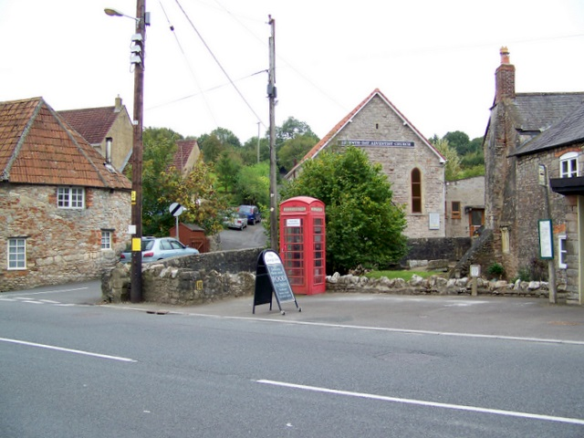 Telephone box, Croscombe