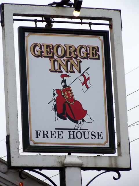 Sign for the George Inn