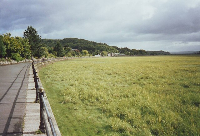 Esplanade and seashore at Grange Over Sands, Cumbria