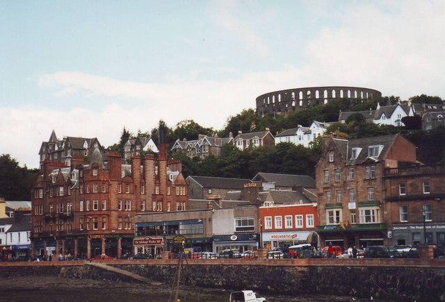 McCaig's folly and waterfront, Oban