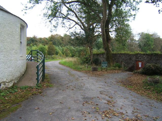 The door to the Community Garden