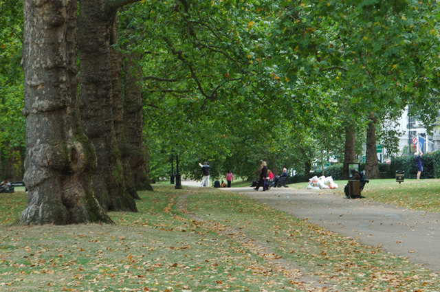 Green Park on a midweek afternoon