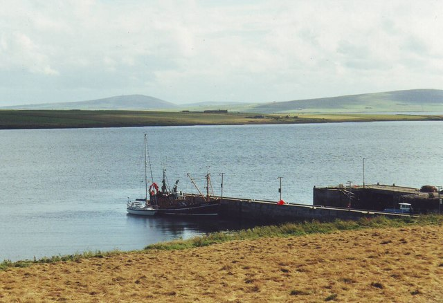 The piers at Brinian, Rousay, Orkney