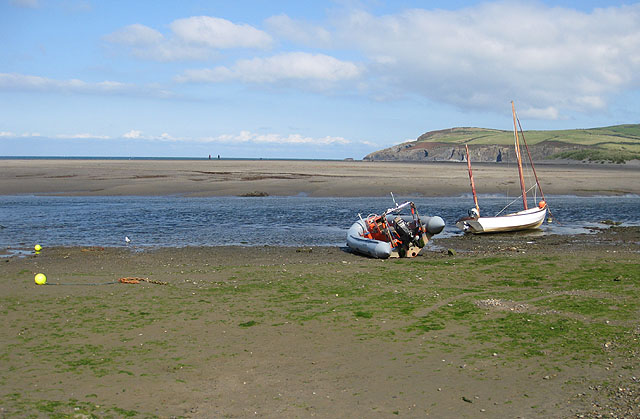 Tide's out at Trefdraeth/Newport