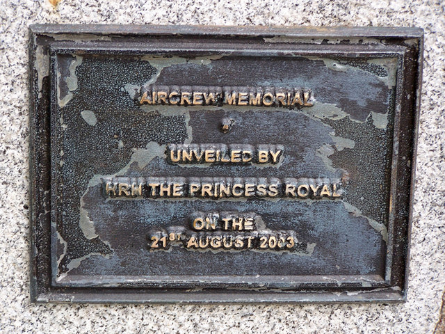 Plaque on Aircrew memorial, Braemar