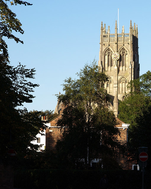 Hedon Church from Magadelen Lane