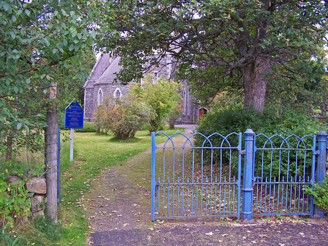 Entrance to Braemar Church