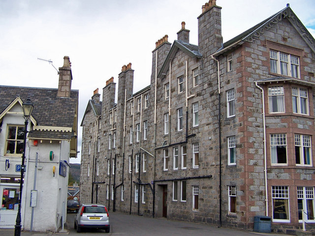 Side of the Fife Arms Hotel, Braemar