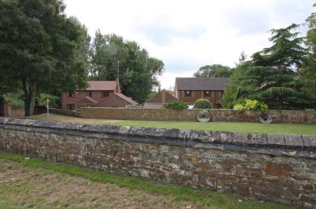 View over churchyard wall