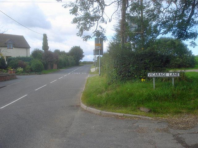 Entrance to Vicarage Lane