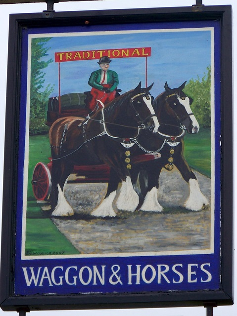 Sign for the Waggon and Horses