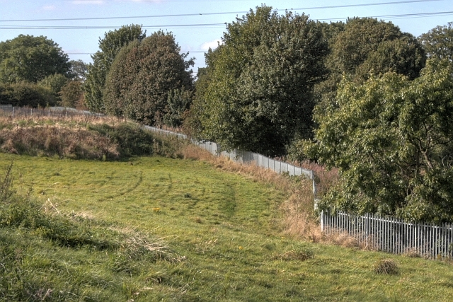 Fence Along Railway Line