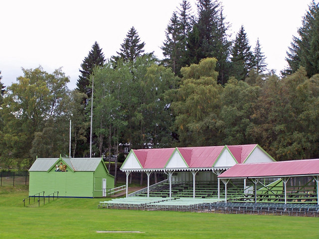 Royal box and stands, Braemar