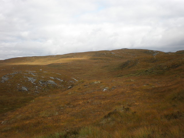 Looking across Moorland to Carn Dubh from near Loch Tarsuinn