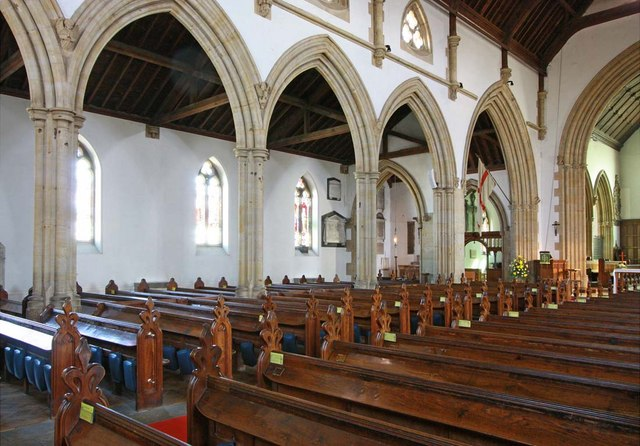 Holy Trinity, Hurstpierpoint, Sussex - North arcade