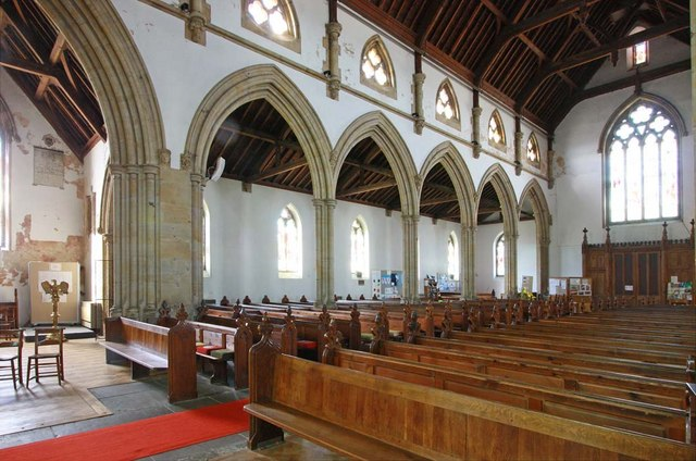 Holy Trinity, Hurstpierpoint, Sussex - South arcade