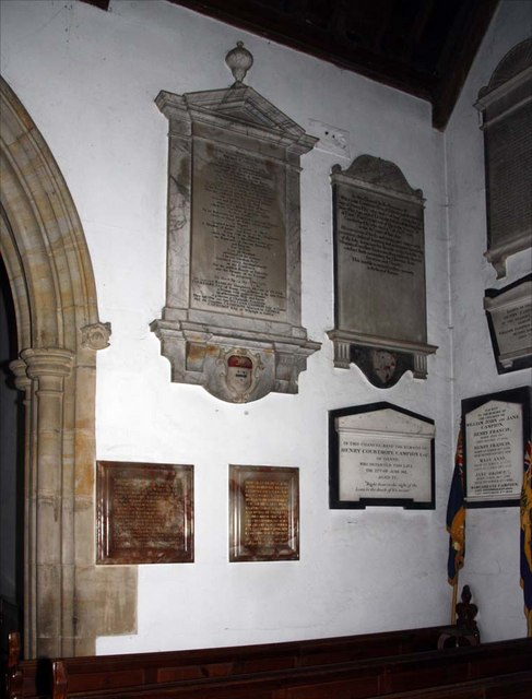 Holy Trinity, Hurstpierpoint, Sussex - Wall monuments