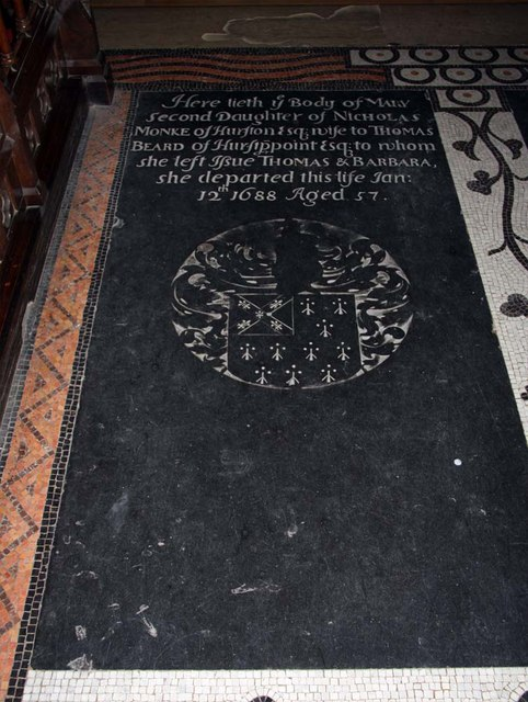 Holy Trinity, Hurstpierpoint, Sussex - Ledger slab