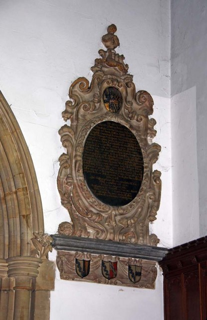 Holy Trinity, Hurstpierpoint, Sussex - Wall monument