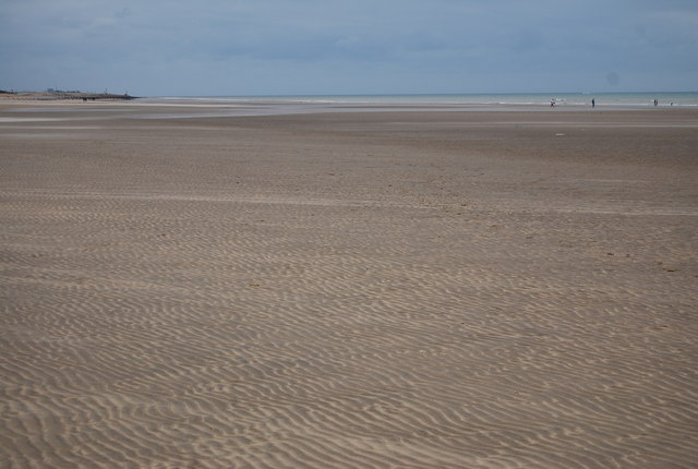 Camber Sands as the tide retreats