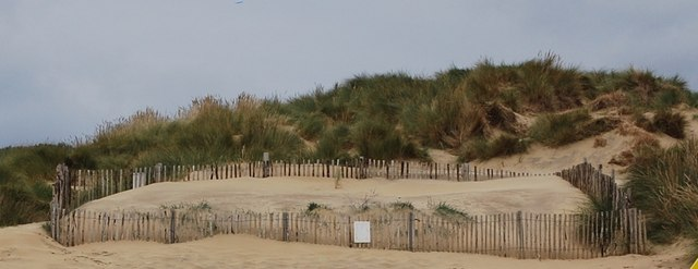 An area of restoration, Camber Sands Sand Dunes