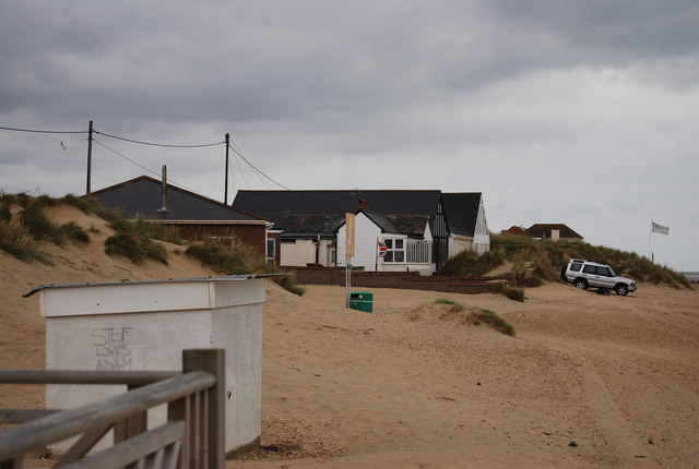 Beach front buildings, Camber Sands