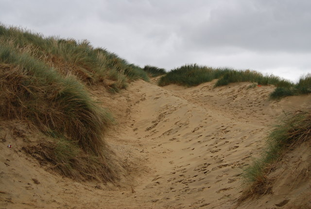 Blow out, Camber Sands Sand Dune