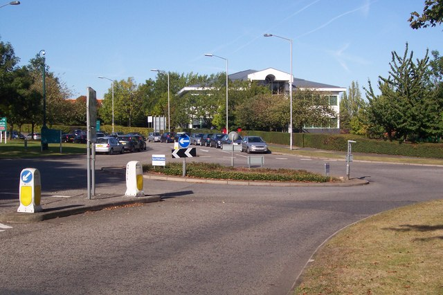 Roundabout on Ambley Road, Gillingham Business Park