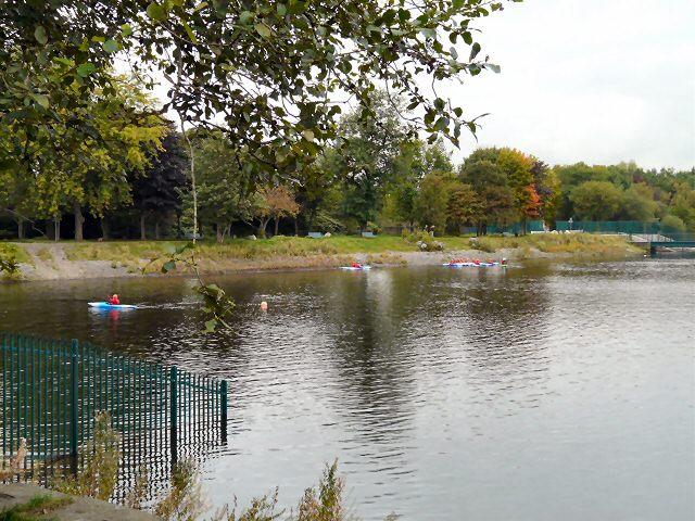 Canoes on Gorton Lower Reservoir