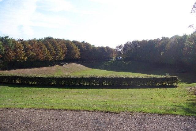 Green open area in Gillingham Business Park