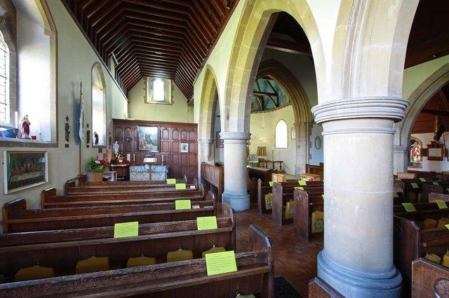 St Cosmas & St Damian, Keymer, Sussex - North aisle