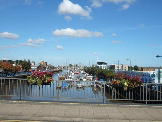 On Freedom Bridge, Wisbech