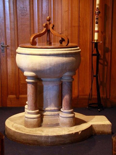 St Cosmas & St Damian, Keymer, Sussex - Font