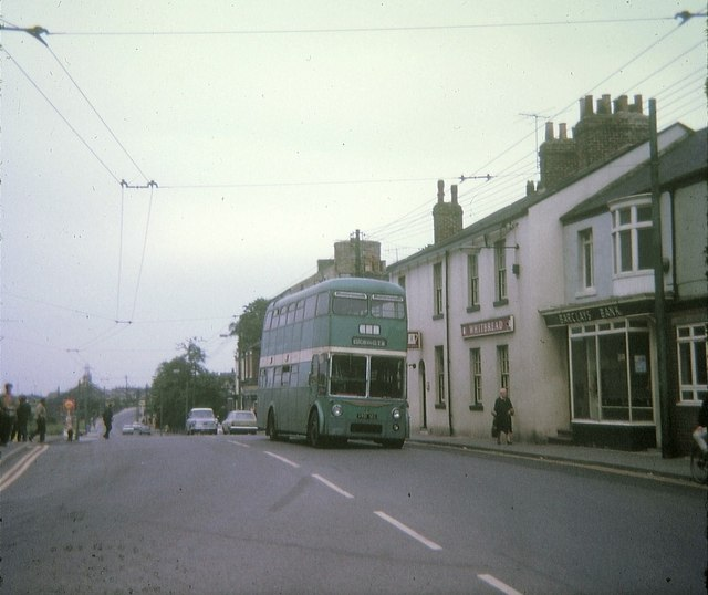 Tees-side trolleybus at Eston Square