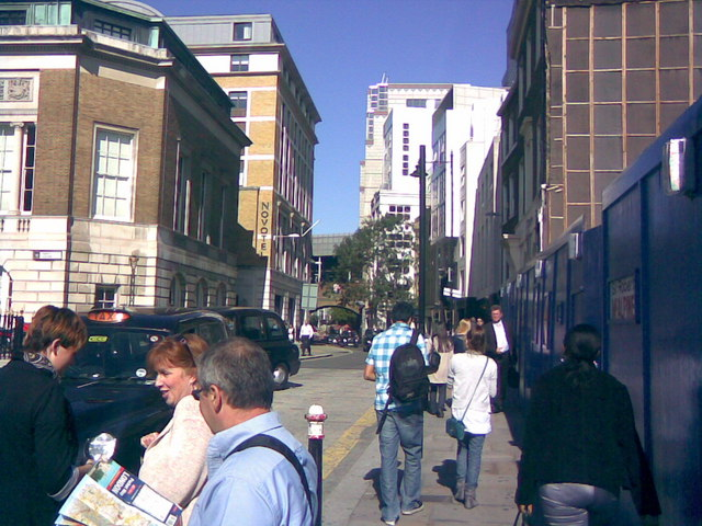 View down Cooper's Row to Fenchurch Street Station