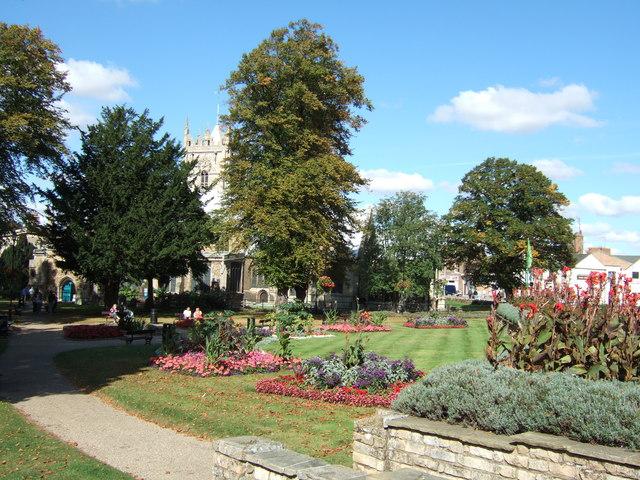 St Peter's church gardens, Wisbech