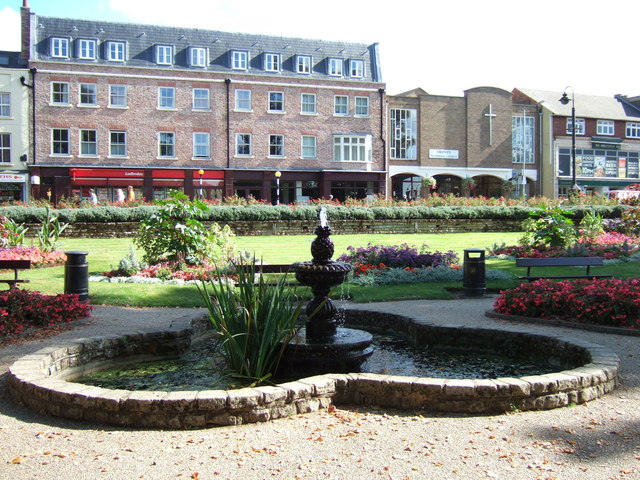 Fountain in St Peter's gardens, Wisbech