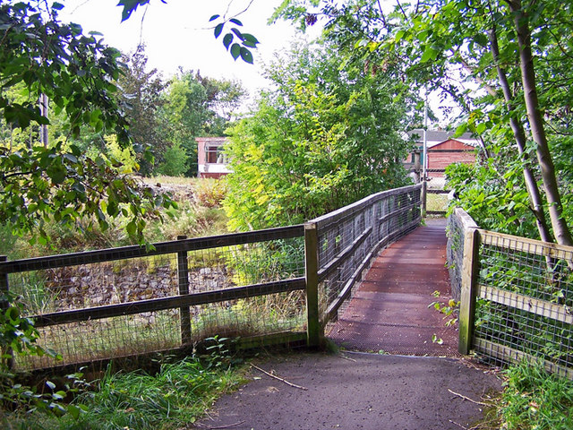 Footbridge over Allt Mor