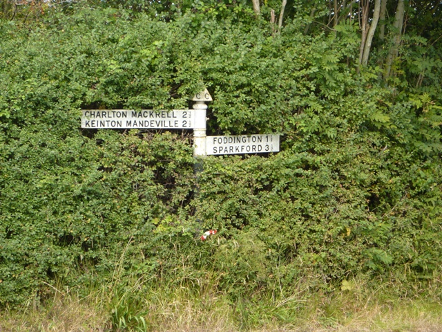 A nearly lost signpost