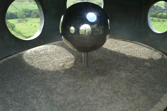 """Inside the Panopticon """"Atom"""" at Wycoller"""