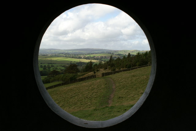 View North-west through a Panopticon window