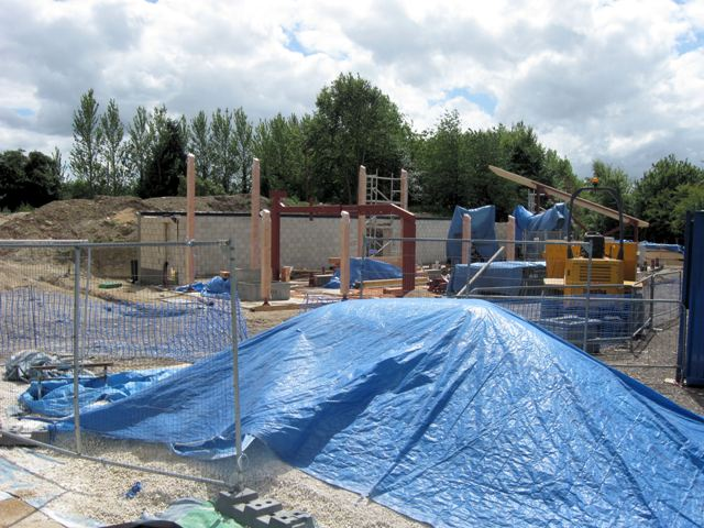 New Visitors Centre at College Lake - Under Construction (July 2009)