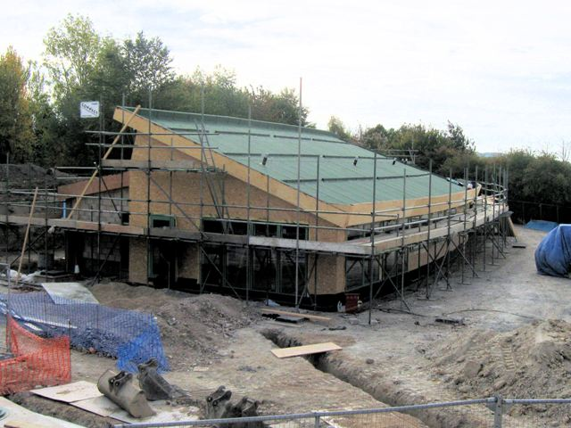 New Visitors Centre at College Lake - Under Construction (September 2009)