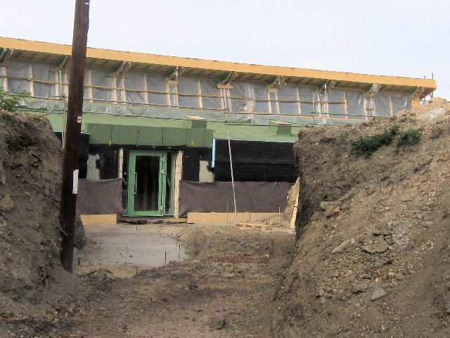 New Visitors Centre at College Lake – Entrance Under Construction (September 2009)